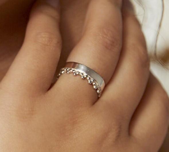 Ring aus recyceltem Silber
