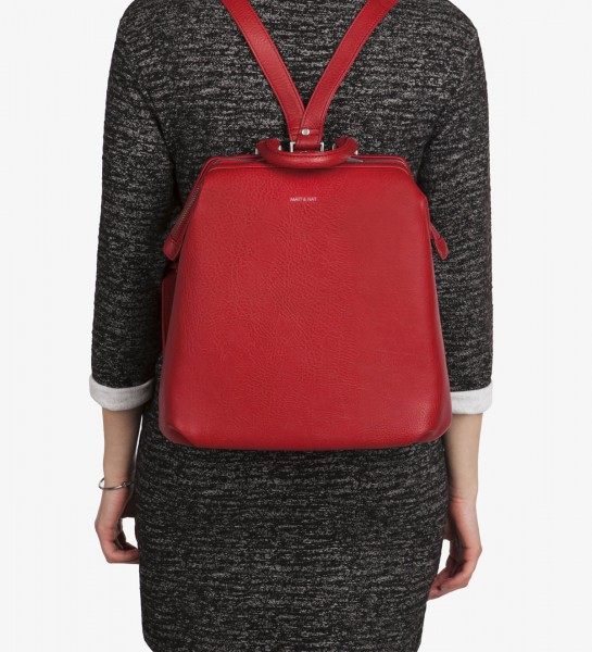 MATT & NAT Vignelli Dwell Backpack Bordeaux