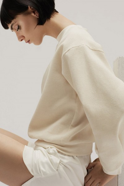 PHILOMENA ZANETTI Sweater Waffle Light Creme