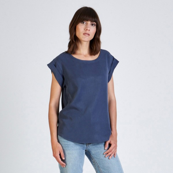 Stoffbruch nachhaltiges Shirt Capri Light Blue