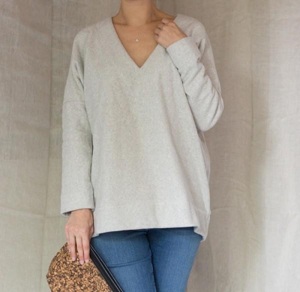 Nachhaltiger Fleece Pullover Damen