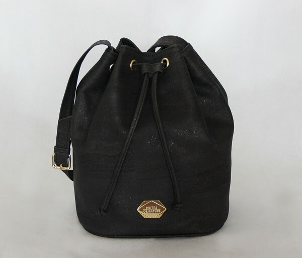 Mates of Nature vegan Bucket Bag Black