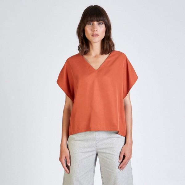 Stoffbruch faires T-Shirt Ruby Burned Orange