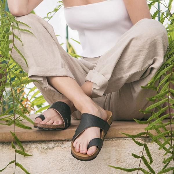 NAE Slow Fashion Sandale Daros Pinatex