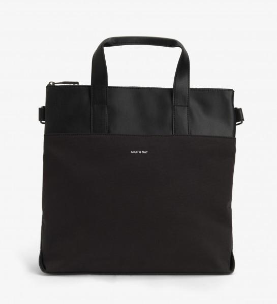 vegane Einkaufstasche schwarz