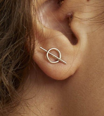 Wild Fawn Intersected Circle Stud