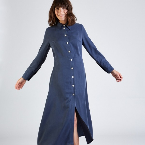 Stoffbruch faires Kleid Wanda Light Blue