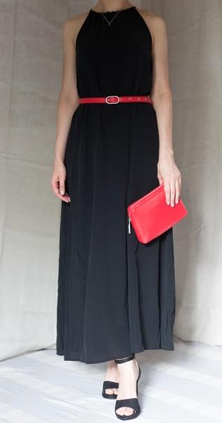 Cossac veganes Kleid Flowy Maxi Dress Black