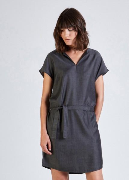 Stoffbruch veganes Kleid Laura Black