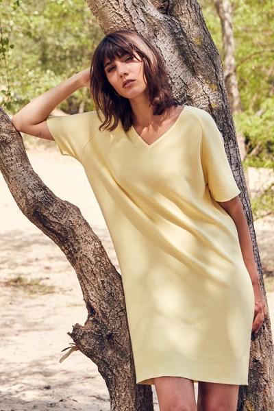 Stoffbruch veganes Kleid Valerie Light Yellow